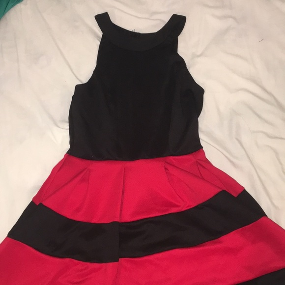 Crystal Doll Dresses Black And Red Striped Dress Poshmark